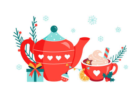 Christmas hot drink chococlade in red cup