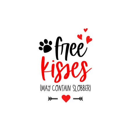 Pets valentines day text Dog puppy typography