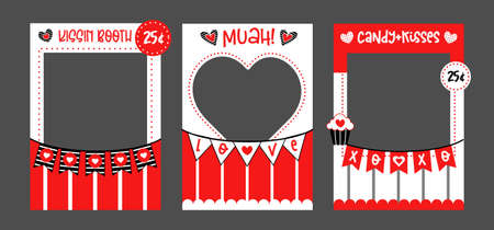 Photo booth props frame Valentines Day wedding