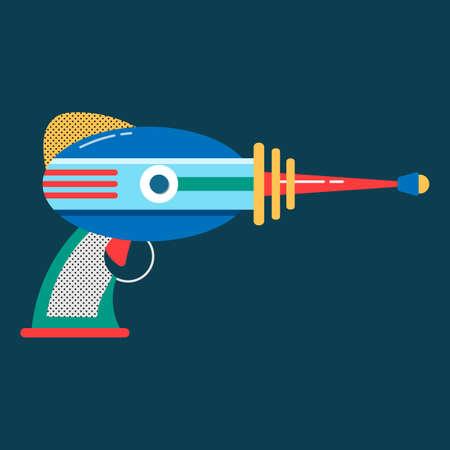 Blaster in cartoon style space laser ray gun