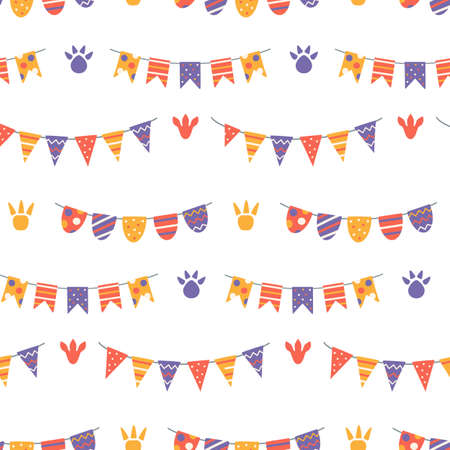 Cute birthday seamless pattern Nursery baby print