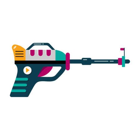 Blaster vector illustration space gun cartoon weapon