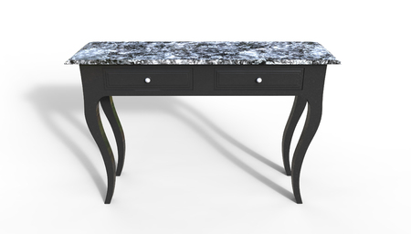 restored: Console Table 3D Rendering on a white background Stock Photo