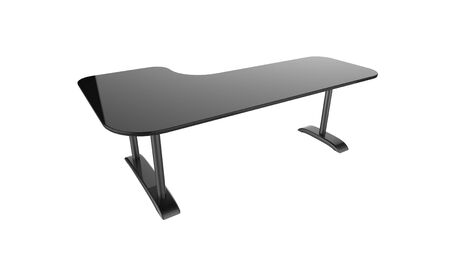 Black office table 3d rendering isolated on a white background