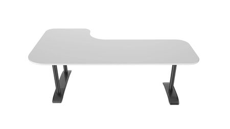 white office table 3d rendering isolated on white background