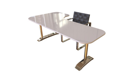 Office table and chair 3d rendering