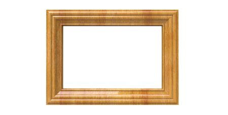 3d rendering of cool isolated modern hanging light oak color photo frame on a white background
