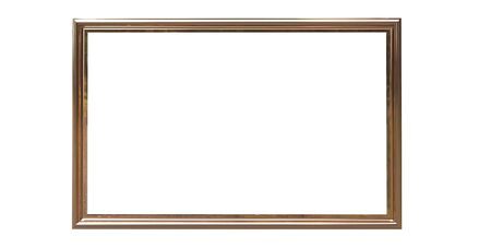 3d rendering of cool isolated modern hanging metallic color photo frame on a white background