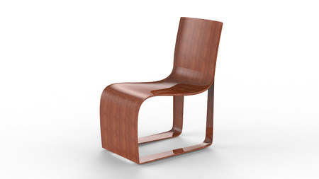 standard steel: 3d render of a Italian style Design Chair Stock Photo