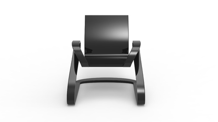 stool: 3d render of a Creative Office Chair Stock Photo