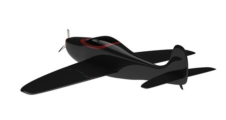 3d render of a propeller plane  isolated on a white background