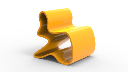 3d render of a Creative Yellow Chair