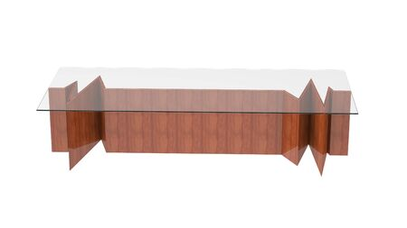 3d render of a modern Coffee Table isolated on a white background
