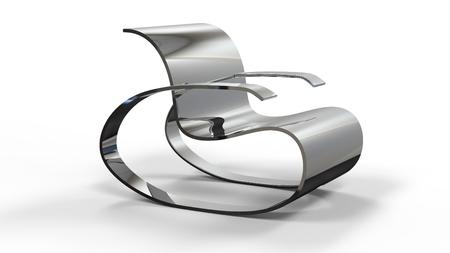 3d render of a Modern Rocking Chair