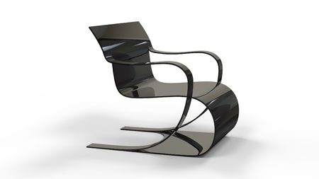 3d render of a Bauhaus Inspired Chair