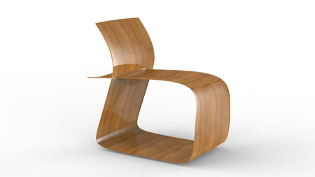 3d render of a modern Plywood Chair furniture Stock Photo