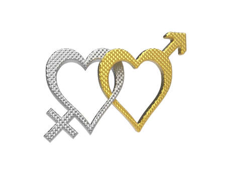 shiny hearts: rendering of female and male gender symbols