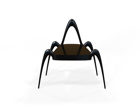 extravagant: Modern alien inspired chair on a white background Stock Photo