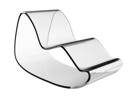 Modern plastic chair on a white background Reklamní fotografie