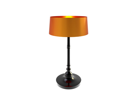3d rendering of modern table lamp made of shiny porcelain isolated on a white background Stock Photo