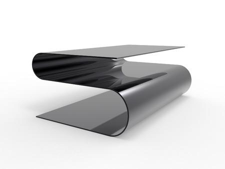 독특한 커피 테이블 디자인의 렌더링