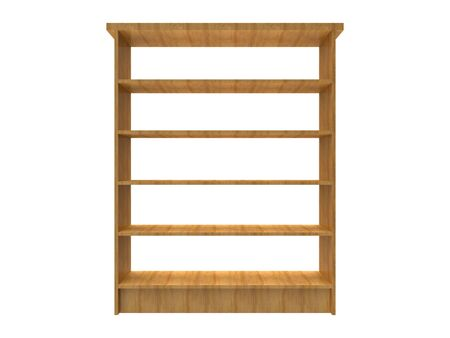 Wide Shelf isolated on a white background