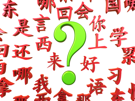 Great illustration for learning mandarin advertisement,  on a white background