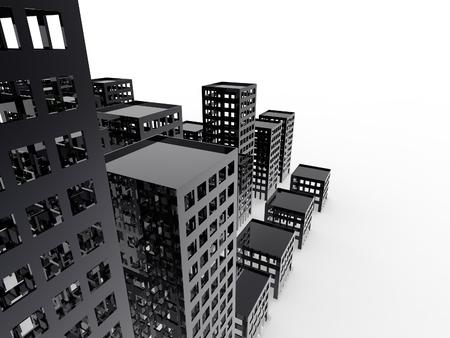 Abandoned City Sustainable City on a white background