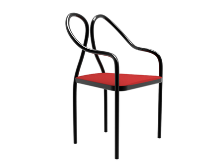 Modern Tubular Chair Isolated On A White Background Stock Photo   81096879