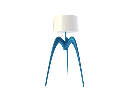 Futuristic Lamp isolated on a white background Stock Photo