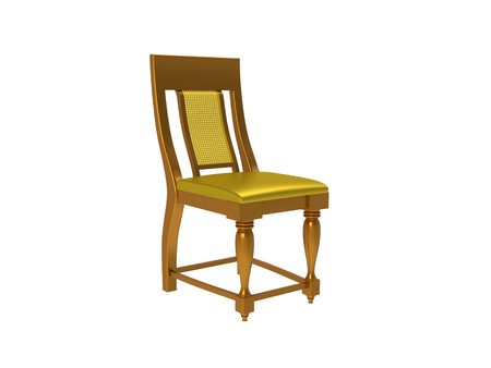 Classic colonial style chair isolated on a white background Stock Photo