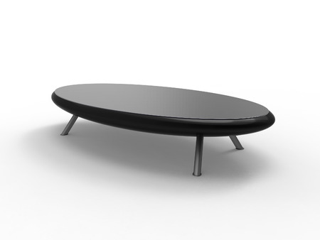 Render of a modern coffee table with a white background Stock Photo