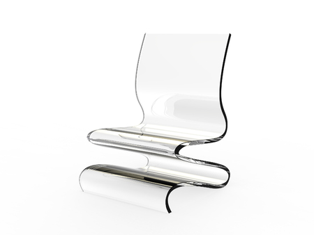 Modern plastic chair on a white background Stock Photo
