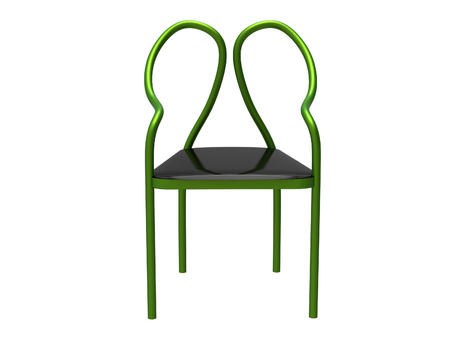 Modern Tubular Chair Isolated On A White Background Stock Photo   80988368