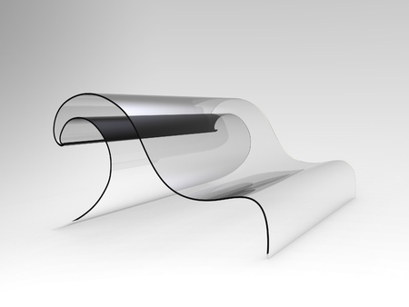 pressing: Concept sofa shaped as a wave