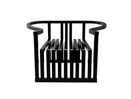 Render Of A Black Modern Chinese Ming Chair Isolated On A White Background  Stock Photo