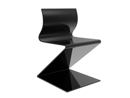 Black Metal Office Chair isolated on a white background Stock Photo