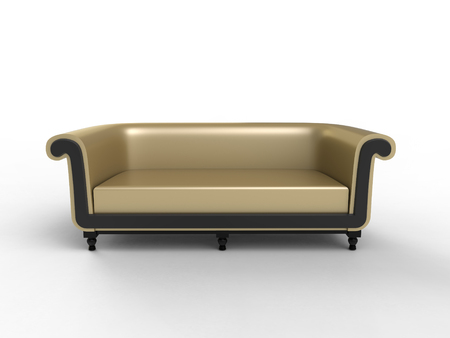 3d rendering of Persian inspired sofa on a white background