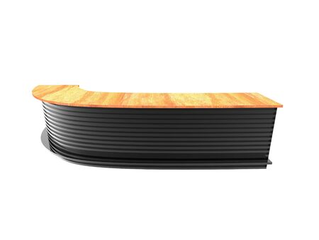 3d rendering of Bar table with woodern top isolated on a white background