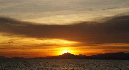 sun set on hainan island in south china