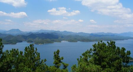 Landscape of a thousand island  lake in china
