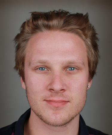 Swedish Model on a gray background
