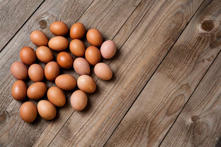 duck egg: Eggs on a wood background Stock Photo