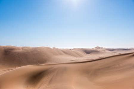 Vibrant Image of Dune 7 and the surrounding sand dunes near Swakopmund, Namibia, Africa Stockfoto - 106119647
