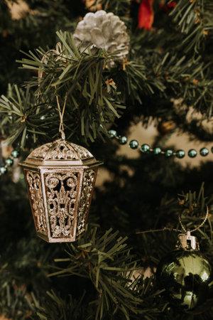 festive decoration on a christmas tree