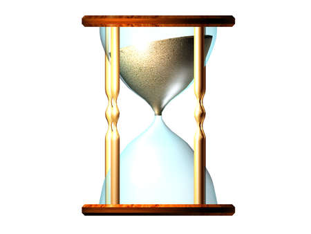 wood tick: Illustration of an hourglass: Get going, the time is running!
