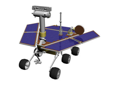 inventions: A (mars) rover to explore extraterrestrial planets, with solar cells Stock Photo