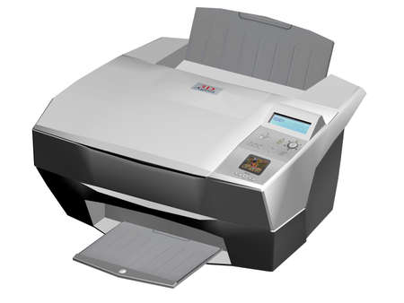 Illustration of a photo  laser printer isolated on a white background