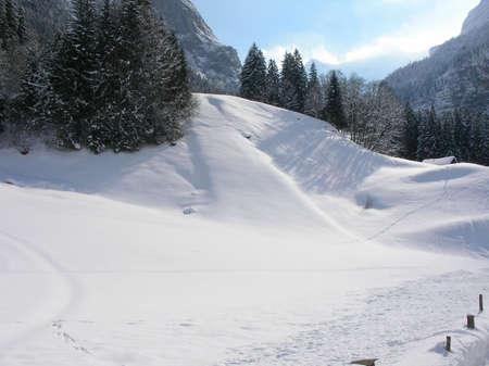 A beautiful winter landscape in Switzerland Stock Photo - 766018