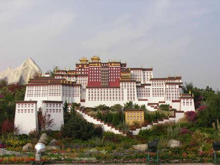 Une maquette d'un temple chinois à Beijing Banque d'images - 766879